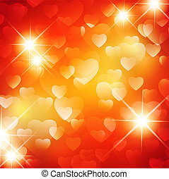 Valentine day background with stars
