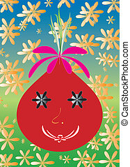 Happy red radish