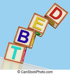 deuda, Bloques, actuación, quiebra, pobreza, y, ser,...