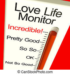 Love Life Meter Incredible Showing Great Relationships