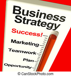 Business Strategy Success Showing Vision And Motivation