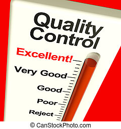 Quality Control Excellent Monitor Showing High Satisfaction...