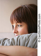 Woman sulking