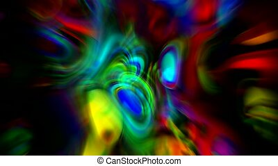 abstract art colorful ripple stripes and bokeh rays light...