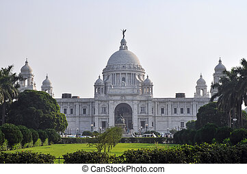 Victoria Memorial in Kolkata, India. Officially the Victoria...