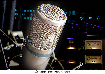 Studio Microphone and recording gear - recording studio mic...