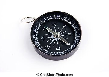 Compass against isolated white background