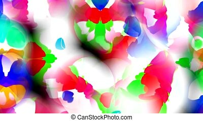 abstract flower petal and butterfly