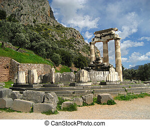 The temple of Athena Pronaea - Ruins of the temple of Athena...