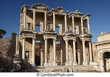 Library of Celsus, ruins of ancient  Ephesus,  Turkey