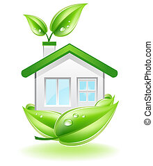 Eco House Nest - This image is a vector file representing a...