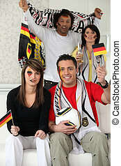 Group of German soccer supporters