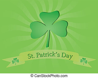 background for St Patricks Day - background with shamrock...
