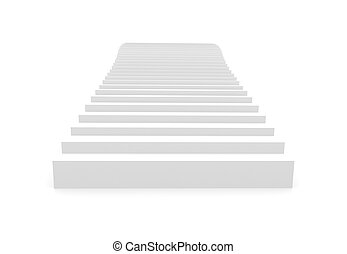 Stairway on a white background, 3D image