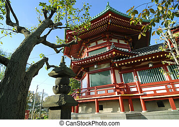 Ueno Temple, Tokyo - Benten Do Temple located on the island...