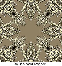 vector eastern style pattern, cropped