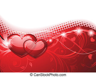 Valentine's Background - Vector illustration of an abstract...