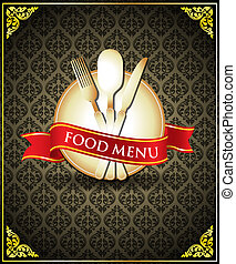 Vector food menu cover template - Vector illustration and...