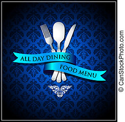 Vector dining food menu cover - Vector illustration and can...