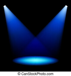 Stage spotlights vector illustration