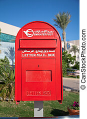 red letter box in United arabien emirates