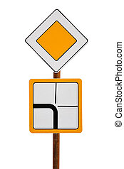 road sign quot;main roadquot; - road sign main road,...