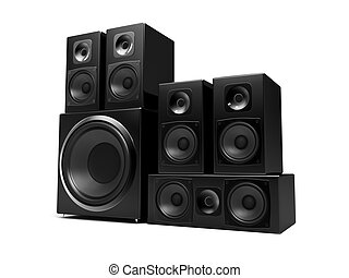 Speakers - speakers isolated on a white background
