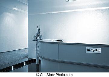 recepção, corredor