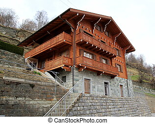 Wooden chalet in the mountain