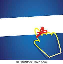 hand cursor with remember ribbon - important remember ribbon...