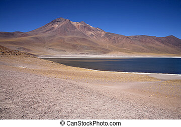 Lagunas Miscanti and Meniques in Atacama desert near Andes