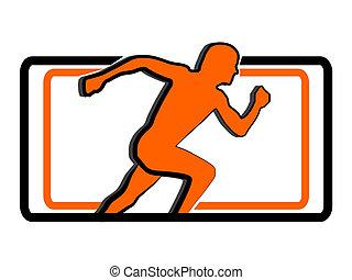 running man sport logo