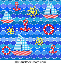 seamless sea pattern