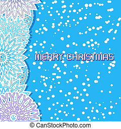 card with paper snowflakes