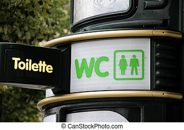 public restroom - a public toilet in a city machines