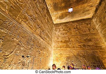 egypten, Edfu, horus, tempel
