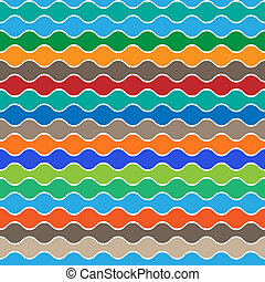 Retro seamless pattern of waves.Vector background