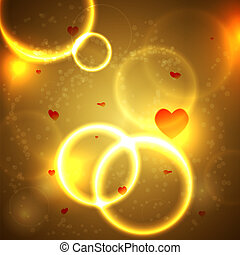 Magic background with hearts for valentine's day. Vector illustration. Best choice