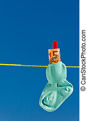 baby socks on clothesline