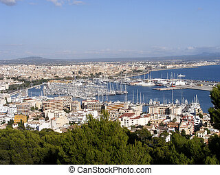 Panoramic view of Mallorca - Panoramic view of Palma de...