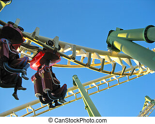 Roller Coaster - A Roller Coaster in Amusement Park