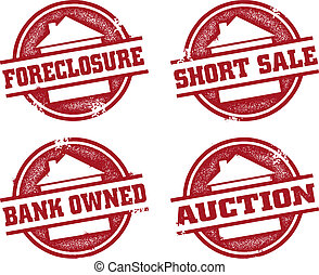 Bank Real Estate Stamps - A selection of real estate and...