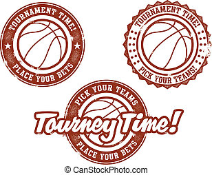 Basketball Tournament Stamps - Tournament time stamps for...