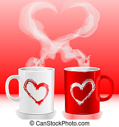 Love's cups - Illustration Valentine's day, love's cups