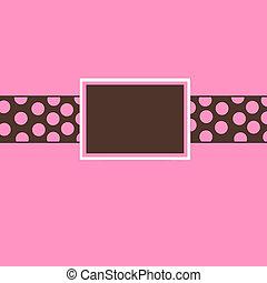 Pink & Brown Polka Dot Invite