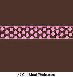 Brown & Pink Dots Simple Templat