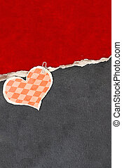 Grunge valentine background with old paper and leather...