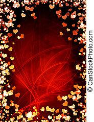 Valentine background - Vertical valentine background with...