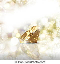 Luxury diamond - Diamond on a golden background