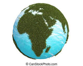 earth green grass africa, continen